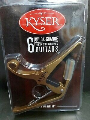 $ CDN19.99 • Buy Kyser Capo 6 Quick Change For 6 String Acoustic Guitars New Gold