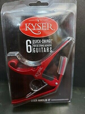 $ CDN19.99 • Buy Kyser Capo 6 Quick Change For 6 String Acoustic Guitars New Red