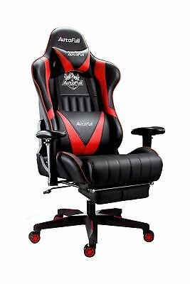 AU330.13 • Buy Autofull Gaming Chair High Back Adjustable Seat Racing Style Swivel Red Black