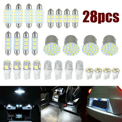 $12.42 • Buy 28x Car Interior LED Light Lamp For Dome License Plate Lamp Auto Accessories Kit