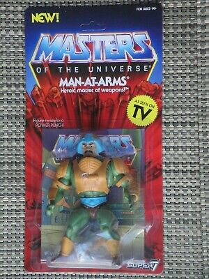 $38 • Buy Masters Of The Universe Man-At-Arms Action Figure MOC Super 7 Vintage Series