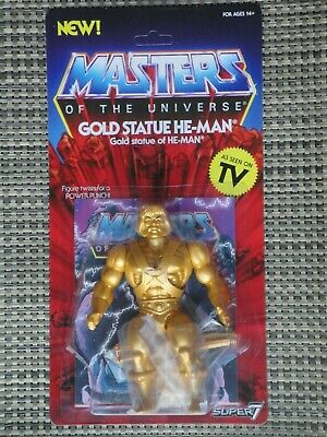 $35 • Buy Masters Of The Universe Gold Statue He-Man Action Figure Super 7 Vintage Series