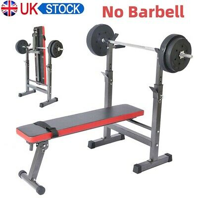 Folding Flat Weight Lifting Bench Body Workout Exercise Benches Home Gym Fitness • 114.99£