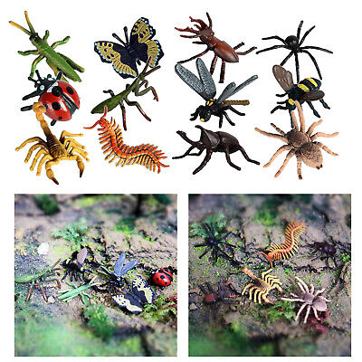 £4.81 • Buy 12pcs Realistic Insect Model Mini Figures Toys Bugs Mantis Scorpion Bee