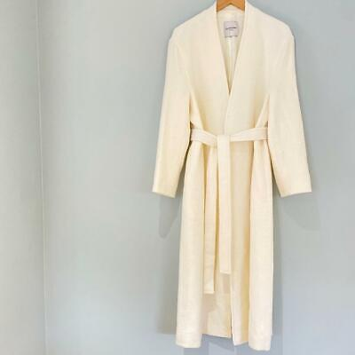 LE 17 SEPTEMBRE BNWT IVORY WHITE COLLARLESS ROBE COAT UK 8 Can Fit 10 12 • 570£