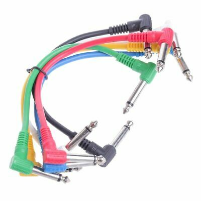 $ CDN29.13 • Buy Angled Plug Audio Patch Cables For Guitar Pedal Effect 6Pcs/Set