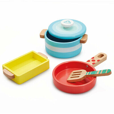£14.40 • Buy Early Learning Centre Wooden Kitchen Pots And Pans
