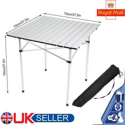 Portable Aluminum Table Folding Camping Desk Tray Outdoor Indoor Picnic With Bag • 23.98£