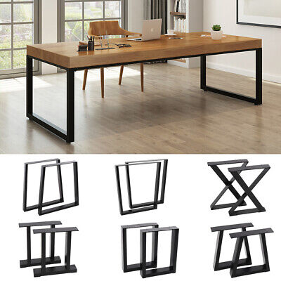 2 Metal Table Legs Feet Dining Table Industrial Bench Leg Coffee Table Support • 75.95£