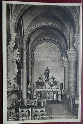 £2.50 • Buy Vintage Postcard, Interior, The Sacred Heart, Our Lady Of Grace. CHARLTON, SE7