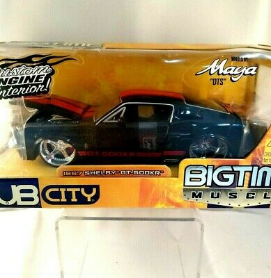 $39.99 • Buy 1967 SHELBY GT-500KR 1:24 DUB CITY Black Red Stripe BIG TIME MUSCLE JADA