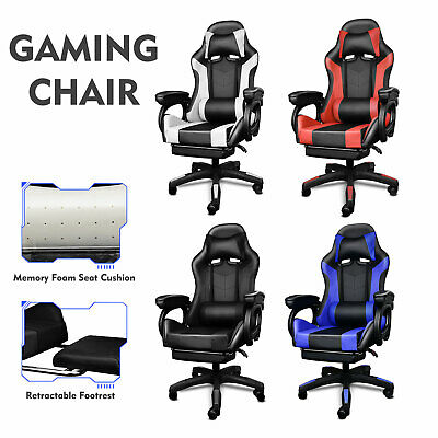 AU109.99 • Buy Gaming Chair Executive Office Chair Computer Mesh Chairs Seating Footrest Racer