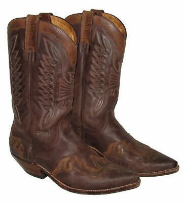 Sancho   Men's Western- Boots/Cowboy Boots Leather Boots IN Braun Size 41 • 58.07£