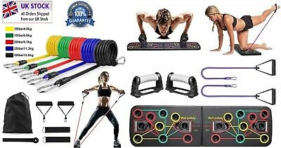 £24.99 • Buy Complete Work Out Set 14 In 1 Push Up Board + 11pcs Fitness Resistance Bands