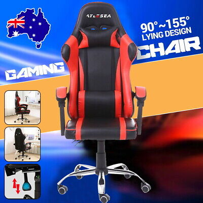 AU96.20 • Buy Gaming Chair Office Executive Computer Chairs Seating Racing Recliner Headrest