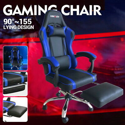 AU115 • Buy Gaming Chair Office Chair Computer Executive Chairs Seating Footrest Racer