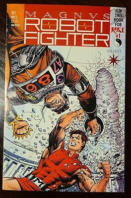 $20 • Buy High Grade Magnus Robot Fighter #5, First Appearance Of Rai! Card Attached!