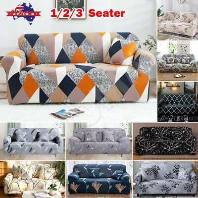 AU13.39 • Buy Sofa Cover Couch Lounge Protector Slipcovers High Stretch Covers 1 /2 /3 Seater