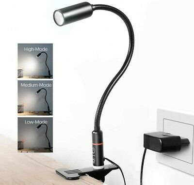 £29.99 • Buy Reading Light LED Clip On Lamp Desk Clamp (AC Adapter Included)Touch Control