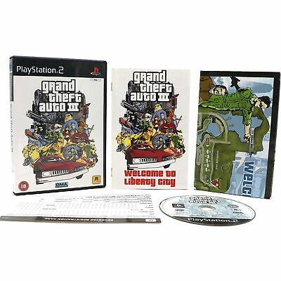 £9.97 • Buy Grand Theft Auto III (GTA 3) - Sony Playstation 2 PS2 Game With Map - VGC