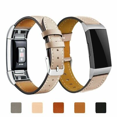 AU12.84 • Buy Strap Classic Wristband Band New Genuine Replacement Leather For Fitbit Charge 2