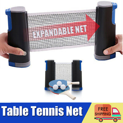 Instant Table Tennis Game Indoor Portable Travel Ping Pong Ball Set Extendable • 16.19£