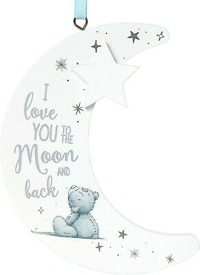 Me To You Bear Tatty Teddy Hanging Gift Moon Plaque   I Love You To The Moon And • 3.99£