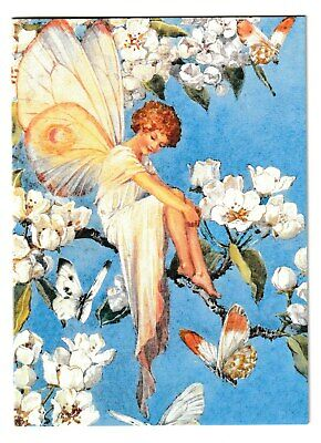 Margaret Tarrant Pear Blossom Fairy Blank Medici Greeting Card • 1.75£