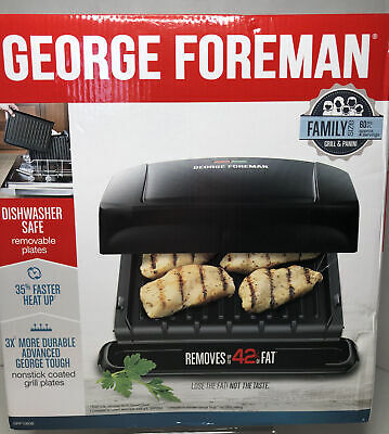 George Foreman 4-Serving Removable Plate Grill And Panini Press GRP1060B • 17.65£