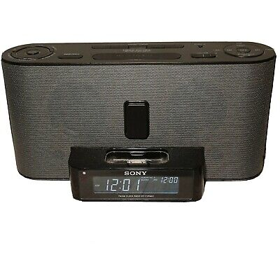 AU19.51 • Buy Sony Dream Machine IPhone / IPod Dock ICF-C1iPMK2 Alarm Clock Radio No Remote