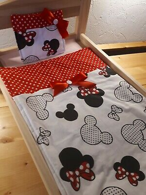 £5.50 • Buy Dolls Pram Cot Bedding Set -pretty Mouse And Red Spot Fabric 12x17 Inch Aprox
