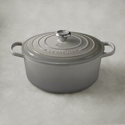 $ CDN633.08 • Buy Le Creuset Signature Enameled Cast Iron Round Dutch Oven 7 1/4 Qt French Gray 28