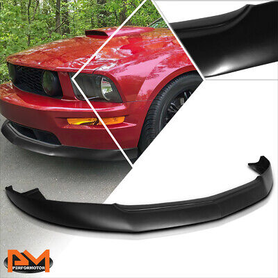 $164.89 • Buy For 05-09 Ford Mustang IKC Style Matte Black Front Bumper Lip Lower Spoiler Kit