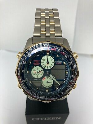£495.49 • Buy Citizen,pilot,titanium,gold Plated,blue Dial,new Old Stock,free Shipping