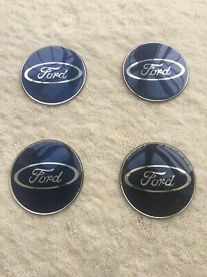 $ CDN13.85 • Buy ✅ 4pcs Ford Blue 65mm Wheel Center Hub Caps Stickers Fits For Alloy Wheels