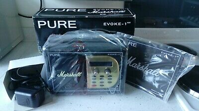 Rare Pure 1XT Marshall Amp Planet Rock DAB Digital Radio. New In Box With Manual • 275£