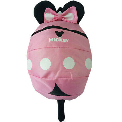 UK Baby Toddler Girl Kid Mickey Mouse Reins Safety Backpack Harness School Bag • 9.49£