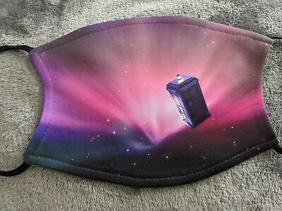 £6.50 • Buy Doctor Who Pink Tardis Face Mask Covering Washable/Filter Gift Adult/Children's