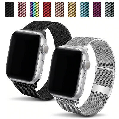 AU13.04 • Buy For Apple Watch Stainless Steel 38/42mm 40/44mm I Watch Band Loop Strap