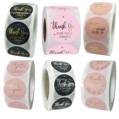 Thank You For Your Order Stickers Professional Business Labels 25mm - 6 Options • 2.50£