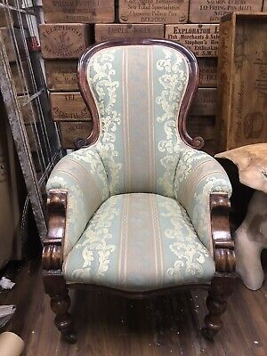 £90 • Buy Antique Victorian  Upholstered Balloon Back Nursing Chair Nice Size