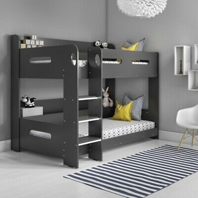 Sky Bunk Bed In Dark Grey - Ladder Can Be Fitted Either Side! • 429.99£