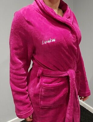 AU14.38 • Buy BRAND NEW UNWANTED XMAS GIFT Personalised Dressing Gown  LOUISE  PINK Size 10