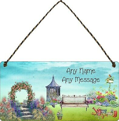 Personalised Garden Hanging Plaque Backyard Allotment Shed Sign Summer House Bbq • 7.49£
