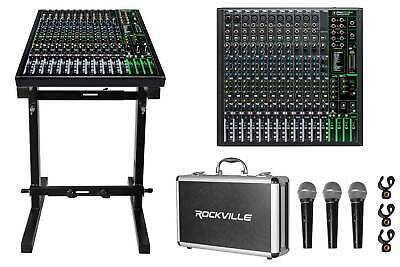 $529.95 • Buy Mackie ProFX16v3 16-Channel Effects Mixer W/USB ProFX16 V3+Stand+(3) Mics+Case