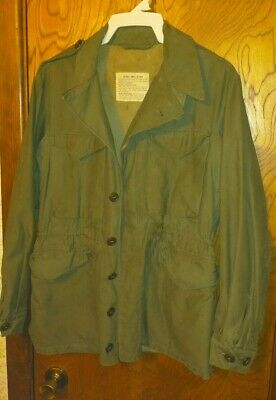 $175 • Buy VTG US ARMY MILITARY JACKET M1943 32R MEN WAR WW2 DECK FIELD WWII With Flaws
