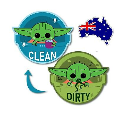 AU13.99 • Buy Baby Yoda Dishwasher Magnet Clean Dirty Sign Double Sided Clean Dirty Indicator