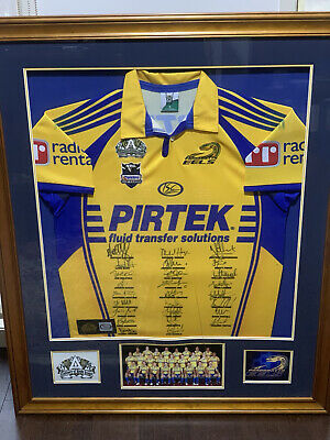 AU350 • Buy 2008 Signed & Framed Parramatta Eels Jersey Centenary Of League NRL