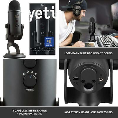 Blue Microphones Yeti - Usb Microphone For Recording And Streaming On Pc And Mac • 154.99£