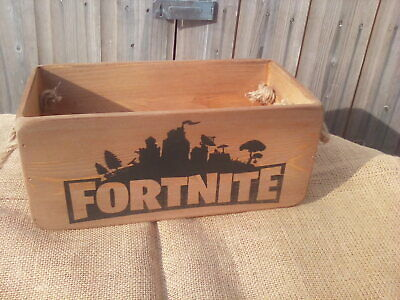 Large Size Rustic Vintage Style Wooden  FORTNITE  Box  Use For Games/controllers • 12.45£